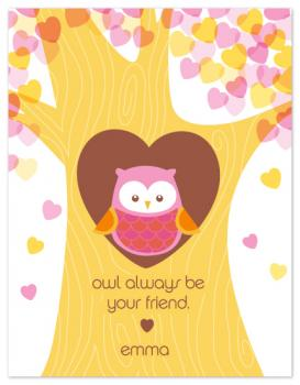 owl be your friend Valentine's Day