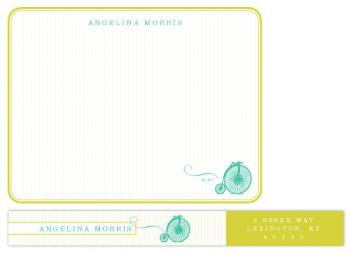 Vintage Bike Personal Stationery