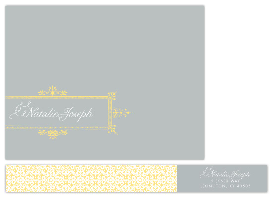 personal stationery - Ornate Frame by Principessa Press