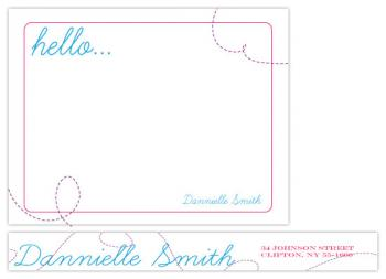 Simple Hello  Personal Stationery