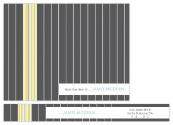 Striped Suit Personal Stationery
