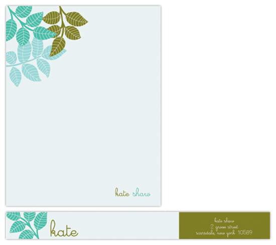 personal stationery - botanical bunch by lauramacchia