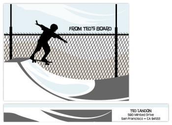skateboarding Personal Stationery