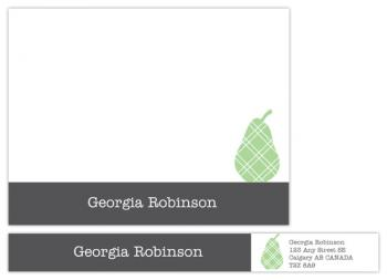 Trendy Pear Personal Stationery