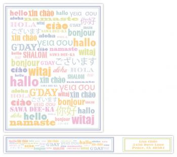 "The Language of ""Hello"" Personal Stationery"