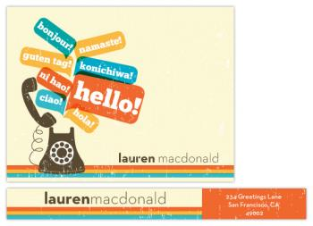 Say hello your way Personal Stationery