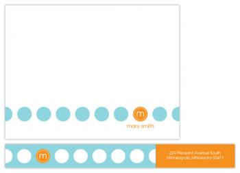 merry dots Personal Stationery