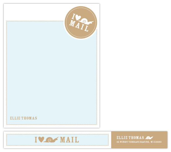 personal stationery - i love snail mail by sweet tree studio