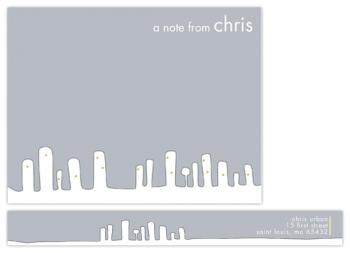 urban Personal Stationery