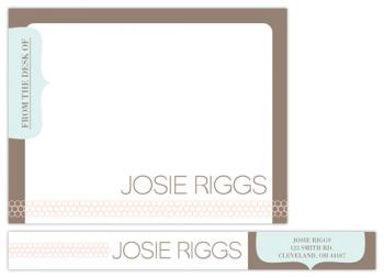 For pinks sake Personal Stationery