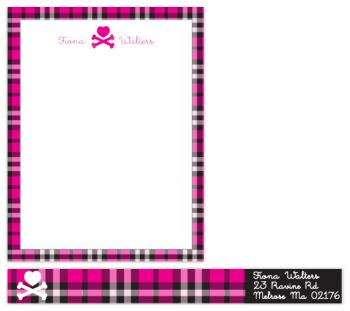 punk girl Personal Stationery