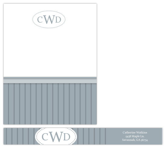 personal stationery - Wainscot Simplicity by Rebekah Canavan