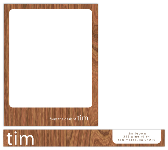 wood tablet Personal Stationery