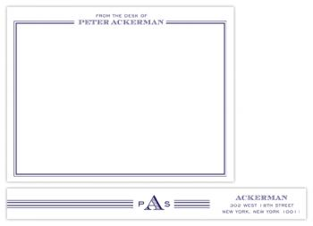 the gentleman Personal Stationery
