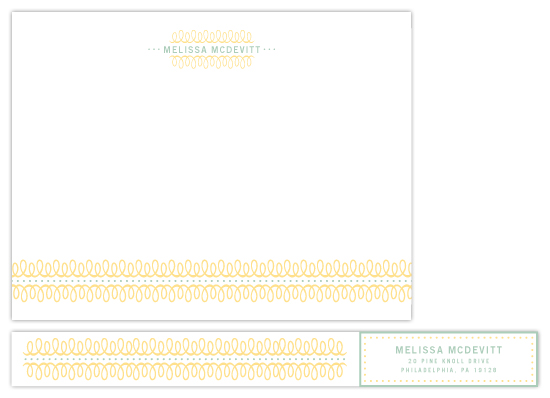 Lovely Swirls Personal Stationery