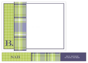 Wrapped in Plaid Personal Stationery