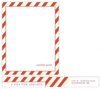 Stripe Delight Personal Stationery