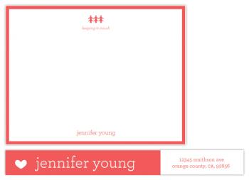 Heart to Heart Personal Stationery