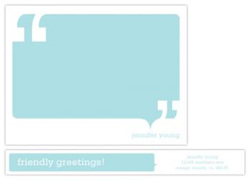 Talk Bubble Personal Stationery