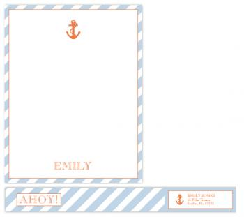 Nautical Note Personal Stationery