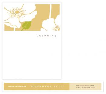 poppy field Personal Stationery