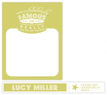 Almost Famous Personal Stationery