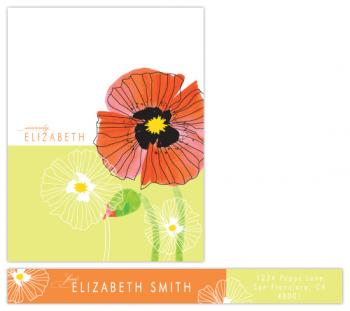 Chic Poppies Personal Stationery