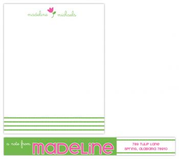Spring Tulip Personal Stationery