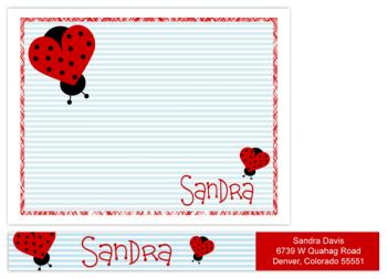 Love Bug Personal Stationery