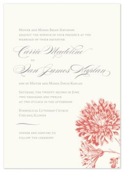 Modern Romantic Chic Wedding Invitations