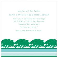 tree line Wedding Invitations