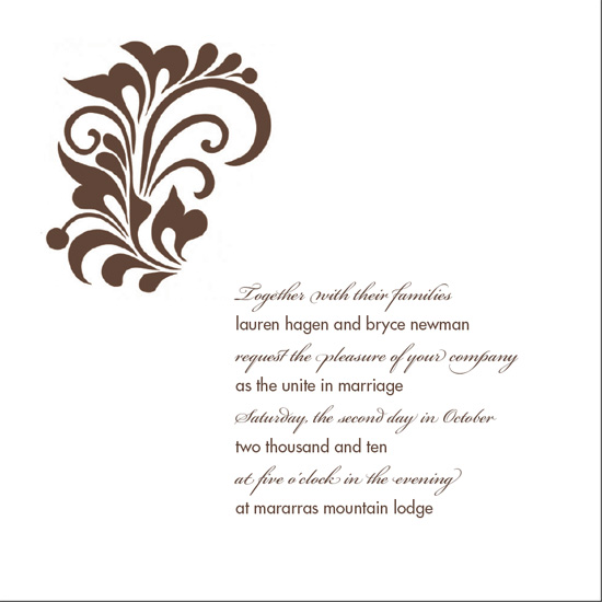 wedding invitations - flourish by coffeyhouse+design