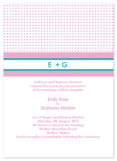 wedding invitations - heartfelt initials by Elena Kloppenburg