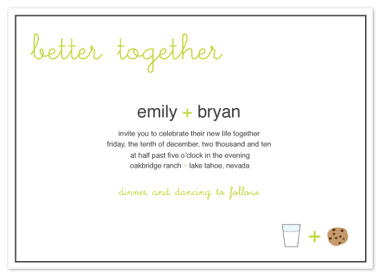 wedding invitations - Better Together by Rebecca Thongkham