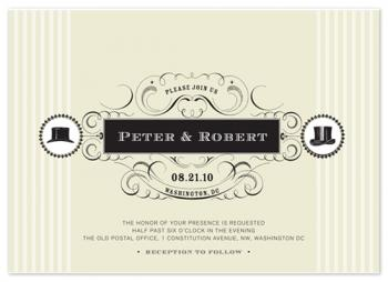 Two Hats Wedding Invitations