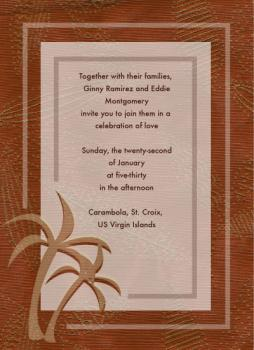 Beach Palm  Wedding Invitations