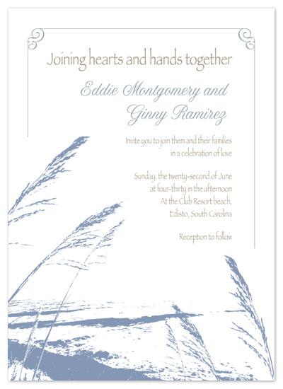 wedding invitations - Blue Beach by Amy