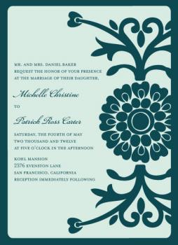 Entwined Hearts in Bloom Wedding Invitations