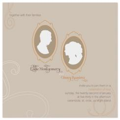 B&G medallions Wedding Invitations