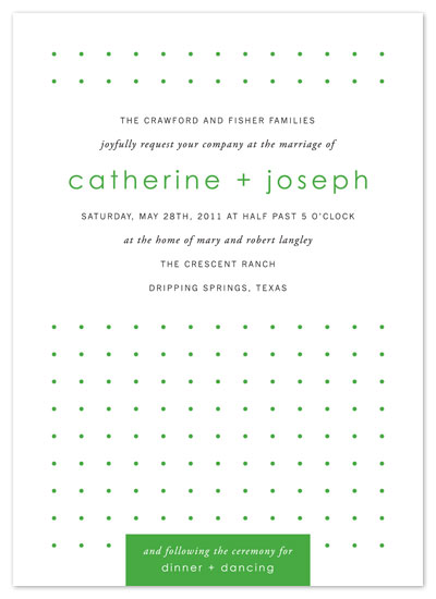 wedding invitations - Green Love by b.wise papers