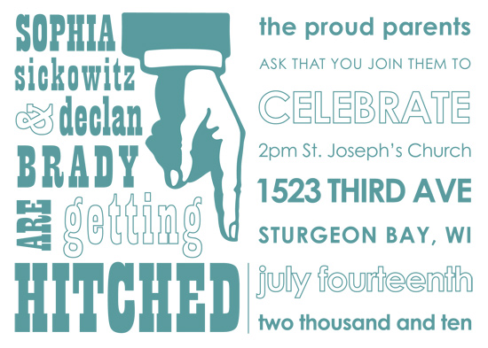 wedding invitations - Fun with Fonts by Amanda Baird