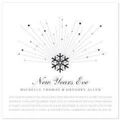 midnight snowflake Wedding Invitations