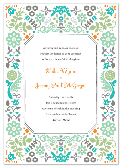 wedding invitations - Folk Frame by Ariel Rutland