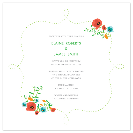 wedding invitations - Floral Frame by Evelyn