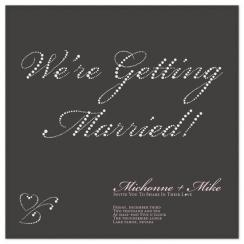 Lots and Lots of Diamonds! Wedding Invitations