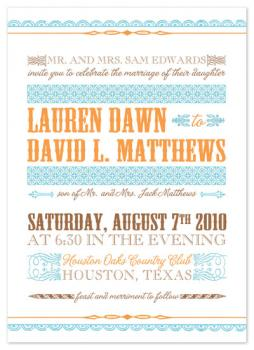 Modern Playbill Wedding Invitations