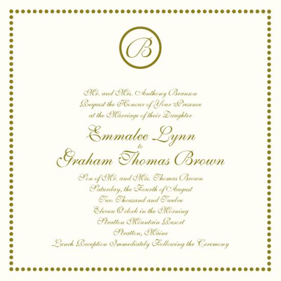 wedding invitations - Bridal Dots by Baci Designer