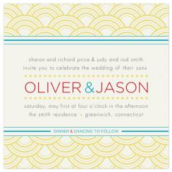 Retro Dots and Stripes Wedding Invitations