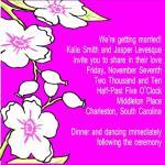 PINK FLORAL INVITATION by ERIN MCKENZIE