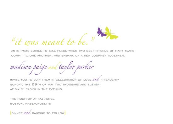 wedding invitations -